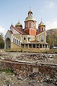 Newly build Greek Catholic, or Uniate, church in the Carpathian town of Yaremche.