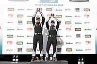 #12 eEuroparts.com Racing, Audi RS3 LMS TCR, TCR: Kenton Koch, Tom O'Gorman celebrate on the podium