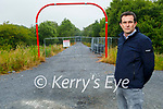 Mayor of Kerry County Council, Cllr: Jimmy Moloney standing on the Listowel Greenway that's under construction