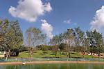 Israel, Sharon region. The lake at Park Ra'anana