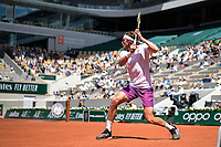 6th June 2021; Roland Garros, Paris France; French Open tennis championships day 8;  Stefanos Tsitsipas ( GRE )