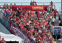 18 May 2013: The Toronto FC fans show their support during an MLS game between the Columbus Crew and Toronto FC at BMO Field in Toronto, Ontario Canada..The Columbus Crew won 1-0...