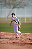 Tony Rudolph (9) of Gatewood High School in Eatonton, Georgia during the Baseball Factory All-America Pre-Season Tournament, powered by Under Armour, on January 13, 2018 at Sloan Park Complex in Mesa, Arizona.  (Mike Janes/Four Seam Images)