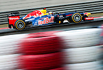Red Bull Racing driver Sebastian Vettel of Germany speeds his car during the UBS Chinese F1 Grand Prix at Shanghai International circuit April 14, 2012. Photo by Victor Fraile