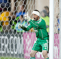 SANTA CLARA, CA – OCTOBER 16: San Jose Earthquakes goalie Jon Busch (18)during a soccer match at Buck Shaw Stadium, October 16, 2010 in Santa Clara, California. Final score San Jose Earthquakes 0, Houston Dynamo 1.
