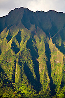 Mountains surrounding Kaneohe Bay and town on the windward side of Oahu, Hawaii