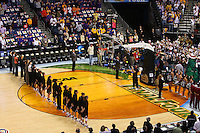 6 April 2008: Stanford Cardinal (not in order) head coach Tara VanDerveer, associate head coach Amy Tucker, assistant coach Bobbie Kelsey, assistant coach Kate Paye, coaching intern Jackie Zink, athletic trainer Marcella Shorty, video coordinator Evan Unrau, strength and conditioning coach Kelly Clark, Melanie Murphy, Jayne Appe, Michelle Harrison, JJ Hones, Candice Wiggins, Cissy Pierce, Kayla Pedersen, Hannah Donaghe, Rosalyn Gold-Onwude, Jeanette Pohlen, Ashley Cimino, Morgan Clyburn, and Jillian Harmon during Stanford's 82-73 win against the Connecticut Huskies in the 2008 NCAA Division I Women's Basketball Final Four semifinal game at the St. Pete Times Forum Arena in Tampa Bay, FL.