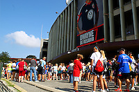 WASHINGTON D.C. - September 02, 2013:<br /> Part of the large group of fans outside the stadium prior to a USA WNT open practice at RFK Stadium, in Washington D.C. the day before the USA v Mexico international friendly match.