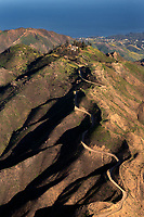 aerial photograph of Malibu Hills, Los Angeles County, California toward the Pacific Ocean