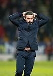 St Johnstone v Aberdeen…..24.11.19   McDiarmid Park   SPFL<br />An unhappy Derek McInnes<br />Picture by Graeme Hart.<br />Copyright Perthshire Picture Agency<br />Tel: 01738 623350  Mobile: 07990 594431