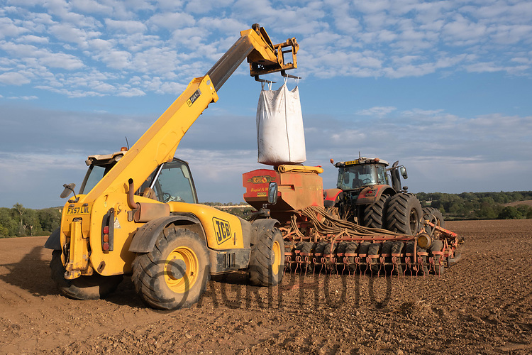 28.9.2020 Drilling Winter barley in Rutland<br /> ©Tim Scrivener Photographer 07850 303986<br />      ....Covering Agriculture In The