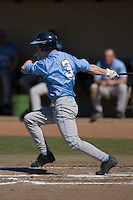 Ben Bunting (3) of the North Carolina Tar Heels follows through on his swing versus the St. John's Red Storm at the 2008 Coca-Cola Classic at the Winthrop Ballpark in Rock Hill, SC, Sunday, March 2, 2008.