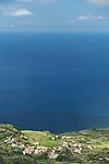 View on Fajazinha village. West coast of Flores.