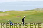 Dick Spring on the golf course at the Tralee Golf Club on Monday.