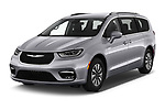 2021 Chrysler Pacifica Touring-L 5 Door Minivan Angular Front automotive stock photos of front three quarter view