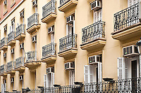 Iron balconies, Madrid, Spain