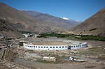 11 June 2013, Rukha Hospital, Panjshir, Panjshir Provnce, Afghanistan.    A new stadium under constuction  on the road from Kabul to Panjshir. Picture by Graham Crouch/World Bank.