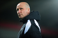 Pictured: Cameron Toshack coach of Swansea City during the Premier League 2 match between Swansea City and West Ham United at the Liberty Stadium, Swansea, Wales, UK <br /> Monday 11 March 2019