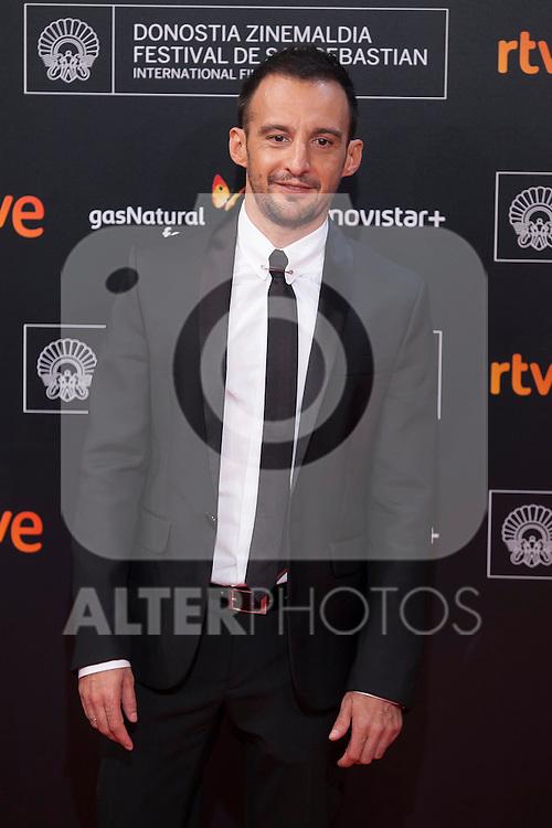 Movie director Alejandro Amenabar poses before 63rd Donostia Zinemaldia opening ceremony (San Sebastian International Film Festival) in San Sebastian, Spain. September 18, 2015. (ALTERPHOTOS/Victor Blanco)