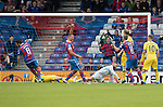 Inverness Caley Thistle v St Johnstone…27.08.16..  Tulloch Stadium  SPFL<br />Ross Draper scores caley's first goal<br />Picture by Graeme Hart.<br />Copyright Perthshire Picture Agency<br />Tel: 01738 623350  Mobile: 07990 594431