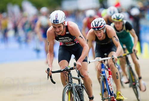 15 SEP 2013 - LONDON, GBR - Alistair Brownlee (GBR) of Great Britain exits transition for the start of the bike during the elite men's ITU 2013 World Triathlon Series Grand Final in Hyde Park, London, Great Britain (PHOTO COPYRIGHT © 2013 NIGEL FARROW, ALL RIGHTS RESERVED)