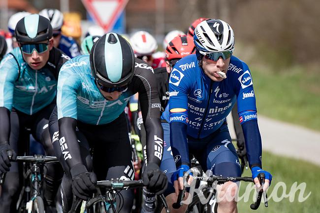 Michael Morkov (DEN/Deceuninck - Quick Step) snacking while riding<br /> <br /> 109th Scheldeprijs 2021 (ME/1.Pro)<br /> 1 day race from Terneuzen (NED) to Schoten (BEL): 194km<br /> <br /> ©kramon
