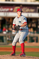 May 6 2010: Trevor May (54) of the Clearwater Threshers during a game vs. the Daytona Cubs at Jackie Robinson Ballpark in Daytona Beach, Florida. Clearwater, the Florida State League High-A affiliate of the Philadelphia Phillies, won the game against Daytona, affiliate of the Chicago Cubs, by the score of 4-1.  Photo By Scott Jontes/Four Seam Images