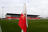 8th November 2020; SkyEx Community Stadium, London, England; Football Association Cup, Hayes and Yeading United versus Carlisle United; Hayes and Yeading United corner flag