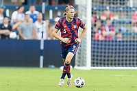 KANSAS CITY, KS - JULY 11: Walker Zimmerman #5 of the United States moves with the ball during a game between Haiti and USMNT at Children's Mercy Park on July 11, 2021 in Kansas City, Kansas.