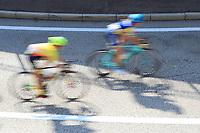 11th September 2021: Trento, Trentino–Alto Adige, Italy: UEC Road European Womens Elite Cycling Championships; Riders in camera blurr shot