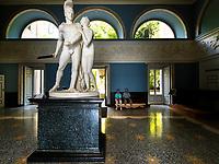 Europe, Italy, Lombardy, Lake Como, Tremezzo, sculpture in Marble Room of Villa Carlotta.-.<br />  <br /> Europa, Italien, Lombardei, Comer See, Tremezzo, Skulptur im Marmorzimmer der Villa Carlotta.-.