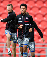 Lincoln City's Ziyad El-Oyouni during the pre-match warm-up<br /> <br /> Photographer Chris Vaughan/CameraSport<br /> <br /> EFL Leasing.com Trophy - Northern Section - Group H - Doncaster Rovers v Lincoln City - Tuesday 3rd September 2019 - Keepmoat Stadium - Doncaster<br />  <br /> World Copyright © 2018 CameraSport. All rights reserved. 43 Linden Ave. Countesthorpe. Leicester. England. LE8 5PG - Tel: +44 (0) 116 277 4147 - admin@camerasport.com - www.camerasport.com