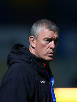 2nd October 2020; RDS Arena, Dublin, Leinster, Ireland; Guinness Pro 14 Rugby, Leinster versus Dragons; Dean Ryan, Dragons head coach watches as the team warms up