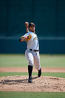 Pittsburgh Pirates pitcher Roger Santana (43) delivers a pitch during an Instructional League game against the Baltimore Orioles on September 27, 2017 at Ed Smith Stadium in Sarasota, Florida.  (Mike Janes/Four Seam Images)