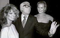 Farrah Fawcett Cary Grant Margeaux Hemingway at Studio 54  1978<br /> Photo By Adam Scull/PHOTOlink.net