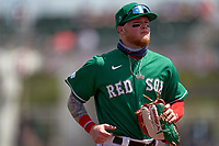 Boston Red Sox Alex Verdugo (99) during a Major League Spring Training game against the Minnesota Twins on March 17, 2021 at JetBlue Park in Fort Myers, Florida.  (Mike Janes/Four Seam Images)