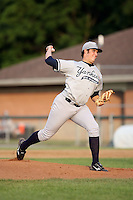 July 5th 2008:  Pitcher Andrew Shive of the Staten Island Yankees, Class-A affiliate of the NY Yankees, during a game at Falcon Park in Auburn, NY.  Photo by:  Mike Janes/Four Seam Images