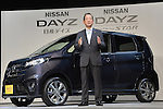 """June 6, 2013, Tokyo, Japan - Nissan Motor Company unveiled a new mini-car """"Dayz"""" in Tokyo, Japan June 6, 2013. Nissan Chief Operating Officer (COO), Toshiyuki Shiga, showed the idea which aims to more than 10% domestic market share of mini-cars.  (Photo by Natsuki Sakai/AFLO)"""