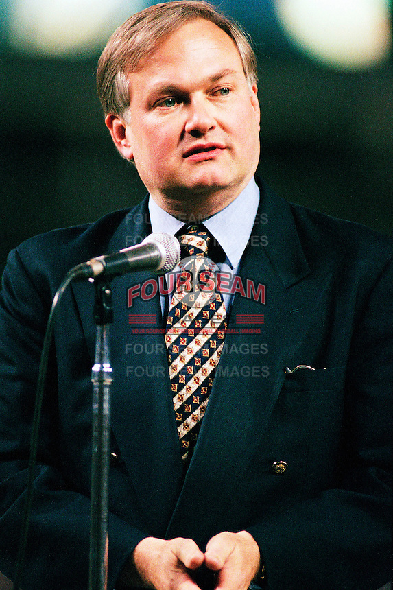 Donald Fehr, Director of the Major League Baseball Players Association before a game at Dodger Stadium in Los Angeles, California during the 1997 season.(Larry Goren/Four Seam Images)