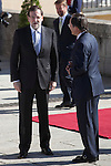 Spanish Government President Mariano Rajoy receives Mexico´s President Enrique Pena Nieto and his wife Angelica Rivera at Pardo Palace in Madrid, Spain. June 09, 2013. (ALTERPHOTOS/Victor Blanco)