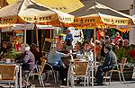 Spanien, Andalusien, Provinz Cádiz, Jerez de la Frontera: Altstadt, Strassencafe | Spain, Andalusia, Province Cádiz, Jerez de la Frontera: old town, pavement cafe