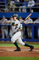 Siena Saints catcher Phil Madonna (3) at bat during a game against the Florida Gators on February 16, 2018 at Alfred A. McKethan Stadium in Gainesville, Florida.  Florida defeated Siena 7-1.  (Mike Janes/Four Seam Images)