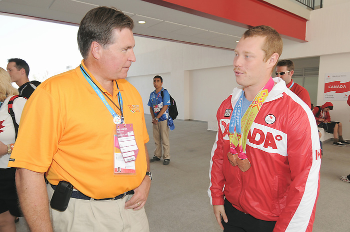 Alister McQueen, Guadalajara 2011.<br /> Highlights from a VIP visit to the Athletes Village // Faits saillants d'une visite VIP au Village des athlètes. 11/18/2011.
