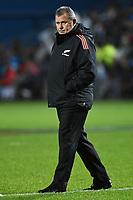 17th July 2021; Hamilton, New Zealand;  head coach of the All Blacks Ian Foster. All Blacks versus Fiji, Steinlager Series, international rugby union test match. FMG Stadium Waikato, Hamilton, New Zealand.