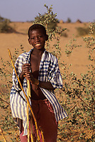 Near Niamey, Niger.  Young Fulani Boy.