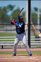 Atlanta Braves Christian Zamora (50) during a Minor League Extended Spring Training game against the Tampa Bay Rays on April 15, 2019 at CoolToday Park Training Complex in North Port, Florida.  (Mike Janes/Four Seam Images)