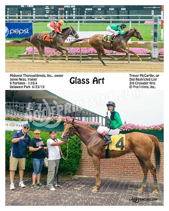 Glass Art winning at Delaware Park on 6/23/15