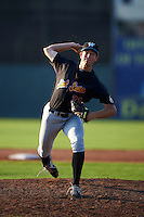 West Virginia Black Bears pitcher Stephan Meyer (31) delivers a pitch during a game against the Batavia Muckdogs on August 30, 2015 at Dwyer Stadium in Batavia, New York.  Batavia defeated West Virginia 8-5.  (Mike Janes/Four Seam Images)