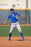 Kansas City Royals Wander Franco (39) during an Instructional League game against the Texas Rangers on October 4, 2016 at the Surprise Stadium Complex in Surprise, Arizona.  (Mike Janes/Four Seam Images)