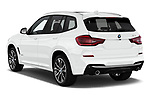 Car pictures of rear three quarter view of a 2019 BMW X3 M Sport 5 Door SUV angular rear